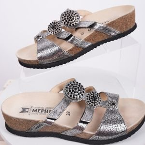 Mephisto Air-Relaxed Jeweled Strappy Sandals Cork